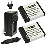 Wasabi Power Battery (2-Pack) and Charger for GoPro HERO2 and GoPro AHDBT-001, AHDBT-002
