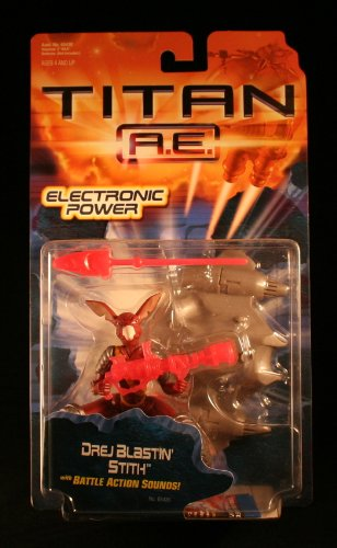DREJ BLASTIN' STITH w/ Battle Action Sounds TITAN A.E. Electronic Power 2000 Action Figure