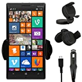IWIO Nokia Lumia 810 Phone Universal 360 Degrees Rotating Suction Mount Car Holder with 12/24v 1000mAh In Car Charger