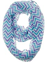 Cotton Cantina Soft Chevron Sheer Infinity Scarf in Contrasting Colors