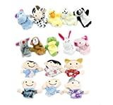 iBUY365 16Pcs Story Time Finger Puppets-10 Animals 6 People Family Members Educational Puppets by iBUY365 Color: Style1, Model: