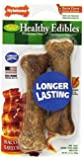 Nylabone Healthy Edibles Petite Bacon Flavored Dog Treats, Twin Pack