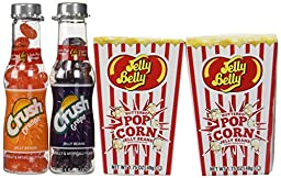 Jelly Belly Buttered Popcorn Set TWO Boxes Jelly Belly Buttered Popcorn & TWO Bottles Soda Pop Shoppe Jelly Beans