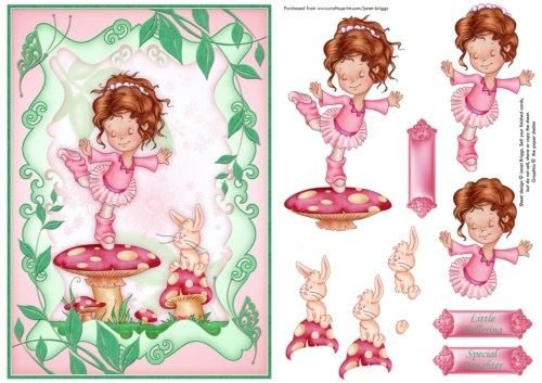 Little Ballerina Topper e decoupage Janet Briggs