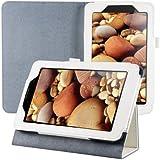 kwmobile® Edle Kunstlederhülle für Lenovo IdeaTab A3000 in Weiß mit praktischer STÄNDERFUNKTION