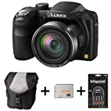 Panasonic Lumix DMC-LZ30 - Black + Case + 32GB Memory + 4 AA Batteries and Charger(16.1MP, 35x Optical Zoom, 25mm Wide Angle, Panaroma Shot, HD Video) 3 inch LCD