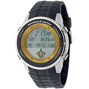 NFL Mens NFL-SW-NO Schedule Series New Orleans Saints Watch by Game Time
