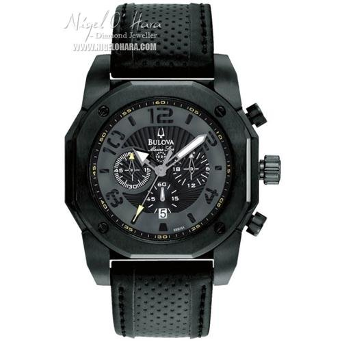 Bulova 98B151 Mens Marine Star Chronograph Black Watch