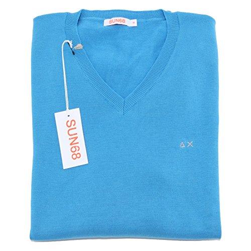 4816M maglione uomo SUN 68 neck solid cotone maglioni men jumpers [S]