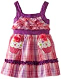 Youngland Girls 2-6X Sleeveless Ruffle Bodice Seersucker With Cupcakes