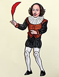 Shakespeare Articulated Paper Doll with Quill and Detachable Ruff