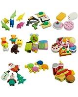Cute Food Animal Vegetable Fruit Toy Gifts Simulation Rubber Pencil Eraser Set 1pcs
