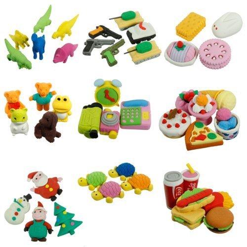 cute-food-animal-vegetable-fruit-toy-gifts-simulation-rubber-pencil-eraser-set-1pcs