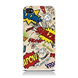 iPhone 4S iPhone 4 Comic Capers Multicoloured Hard Back Cover Case Shell Shield By Creative 11by CallCandy