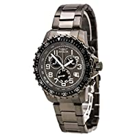 Invicta 14849 Mens Specialty Chronograph Black Dial Black IP Steel Watch