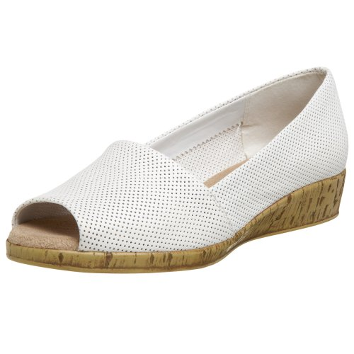 Aerosoles Women's Sprig Break Flat,White Leather,8 M US