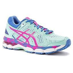 ASICS Gel Kayano 22 GS Running Shoe (Little Kid/Big Kid), Ice Blue/Pink Glow/Marina, 3 M US Little Kid