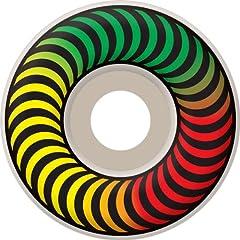 Buy Spitfire Classic Rasta Fade 52mm White Skateboard Wheels (Set Of 4) by Spitfire