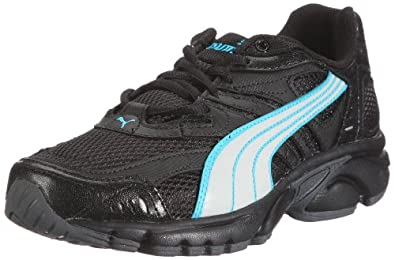 Puma Xenon Wn's 185697, Damen Sportschuhe - Running, Schwarz (black-white-fluo blue 05), EU 37 (UK 4) (US 6.5)