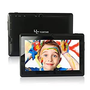 Yuntab 7 Inches 8G Q88 Allwinner A33 Quad-core Tablet PC Google Android 4.4 Google Play Pre-loaded, External 3G 3D-Game Supported 5 Point Screen Capacitive 1024*600 Multi Touch with Dual Camera by SZ Wave