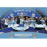 Manchester City FC Official Football Gift Cup Winners Poster - A Great Christmas / Birthday Gift Idea For Men And Boys
