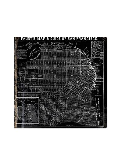 Oliver Gal Fausts Map Of San Francisco 1882 Canvas Art, Multi, 20 x 20