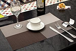 com sicohome high quality grid design pvc dining room placemats