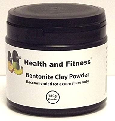 Health and Fitness Bentonite Clay Powder 180g Tub - 100% Pure Calcium Bentonite Clay Powder - For External Use Only