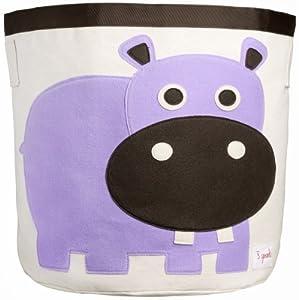 3 Sprouts Storage Bin, Hippo