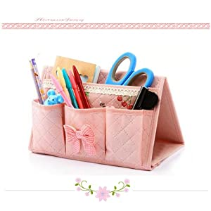 Cute pink multifunction desk holder storage - Cute desk organizer ...