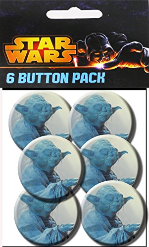C&D Visionary Star Wars Yoda Force 1.5 Inch Button, (6-Piece) - 1