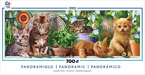 Ceaco Long Shots - Panoramic - Kitten Garden Puzzle
