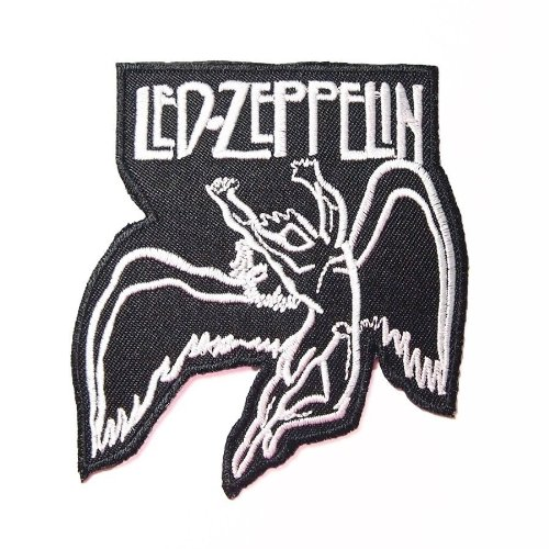 """3-Pack 3.1"""" X 3.3"""" Led Zeppelinembroidered Iron On Patch Metal Punk Hip Hop Band Logo For T Shirt Hat Jacket"""