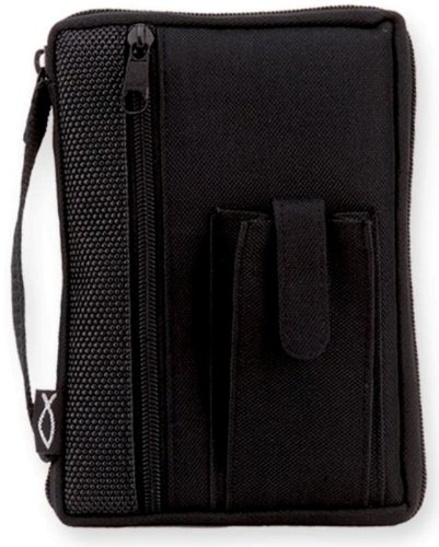 enesco-black-fish-compact-bible-cover-by-gregg-gift