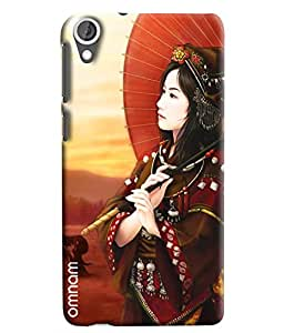 Omnam Japanese Women Having Umbrella In Hand Printed Designer Back Cover Case For HTC Desire 820