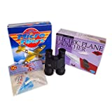 All About Airplane's: Launcher, Micro-fliers, Toy & Binoculars Boy's Gift Bundle Ages 8+ [4 Piece]