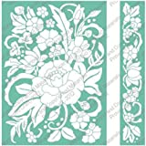 Cuttlebug 5''X7'' Embossing Folder/Border Set-Floral Bouquet