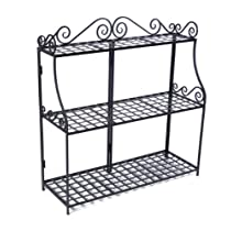 Panacea Products Forged 3-Tier Plant Stande, Black