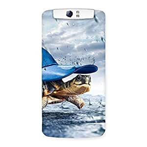 Cute Wow Turtle Multicolor Back Case Cover for Oppo N1