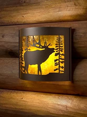 Amazon.com: Decorative Indoor Wildlife Sconces (Bull elk/right