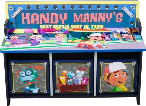 Disney 39 S Handy Manny 3 Bin Storage Toy Bench B001uaamhu Amazon Price Tracker Tracking