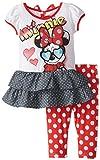 Disney Little Girls' Minnie Mouse Two-Piece Set in Polka Dot Motif