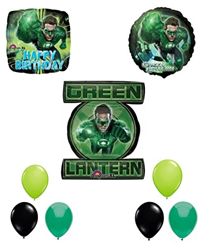 Green lantern happy birthday balloon decoration kit arts for Balloon decoration kits