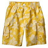 Boys' Swimwear Mossimo Supply Co. Yellow Striped Hibiscus Swim Shorts