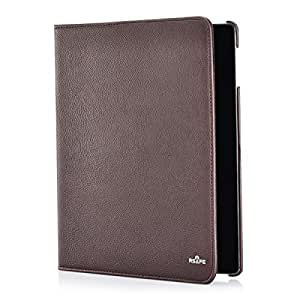 RSAFE Anti-Radiation 360 Degree Rotating PU Leather Smart Case Cover For Samsung T600 (brown)