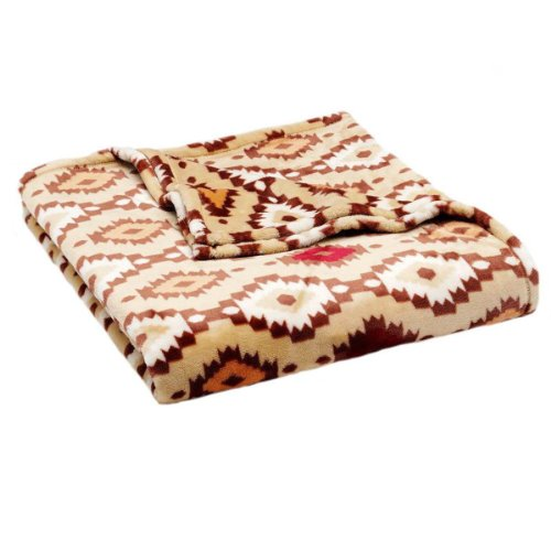 The Big One® Brown Mesa Plush Oversized Throw front-498919