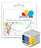 Premier Ink Multipack Of 4 Compatible Xl Ink Cartridges To Brother Lc1000 Lc 1000 Lc970 Lc 970 (1X Black & Ea. 1X Cyan Magenta Yellow) Lc1000Bk/Lc970Bk + Lc1000Y/Lc970Y + Lc1000C/Lc970C + Lc1000M/Lc970M For The Brother Dcp-130C / Dcp-135C / Dcp-150C / Dc