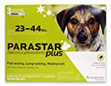 Novartis Parastar Plus Flea and Tick Control for Dogs, 23 to 44-Pound, Green