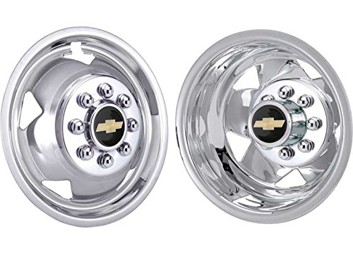 19.5 Stainless Steel Wheel Simulator for GM, Set of 4 42-1958 White Knight
