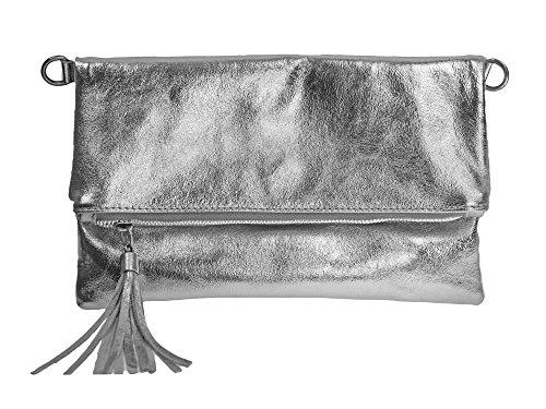 bag2basics-clutch-chloe-aus-echtem-leder-flap-bag-umhangetasche-silber